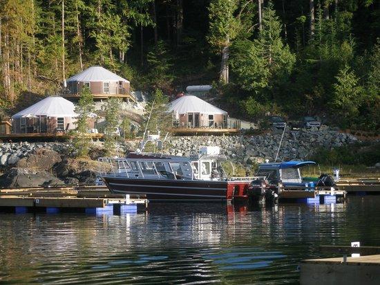 Moutcha Bay Resort: Docks and Yurts