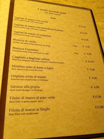 Ristorante Pizzeria Quo Vadis: menu