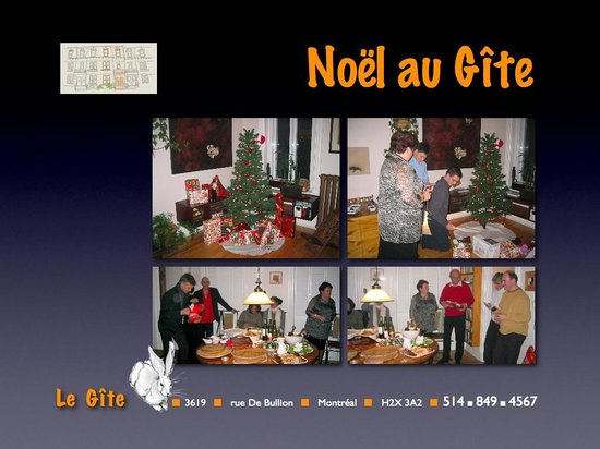 Le Gite: Noël au Gîte