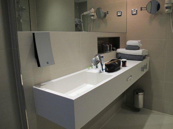 Hotel Bathroom Sink : Clarion Hotel Arlanda Airport: Bathroom sink.