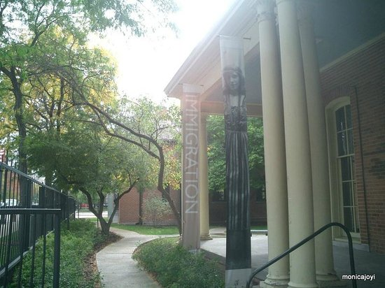 Jane Addams' Hull-House Museum: Inside grounds of Hull House