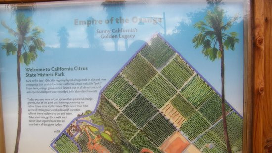 California Citrus State Historic Park: map of park