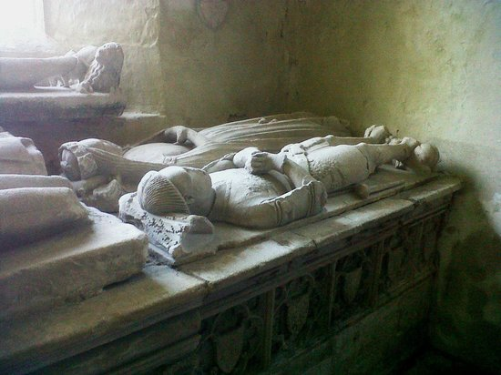 Nunney Castle: Tombs in the church