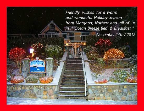Ocean Breeze Bed and Breakfast: We are open for Christmas and New Year !