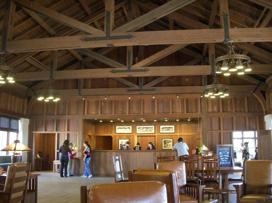 Asilomar Conference Grounds: Social hall: new check in desk