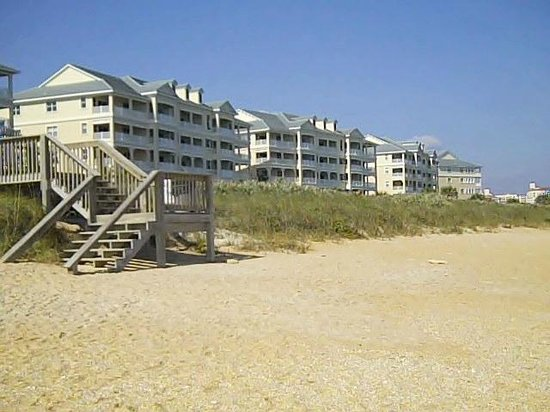 Cinnamon Beach at Ocean Hammock Beach Resort: view of condos from the beach
