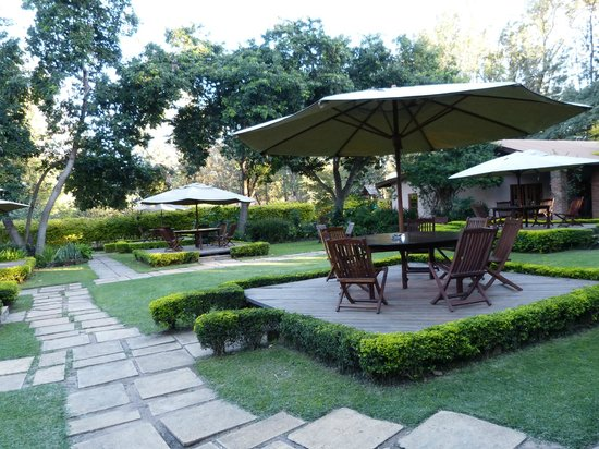 Arusha Coffee Lodge: Grounds of hotel near the main building
