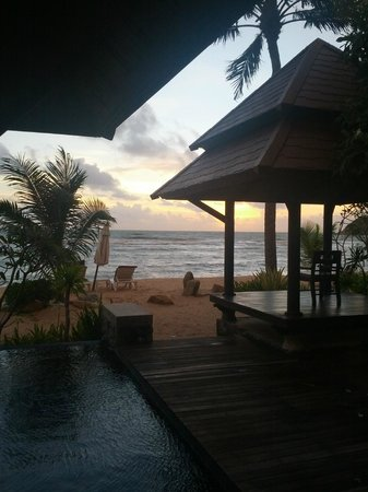 Nora Beach Resort and Spa: Morning view from our Villa
