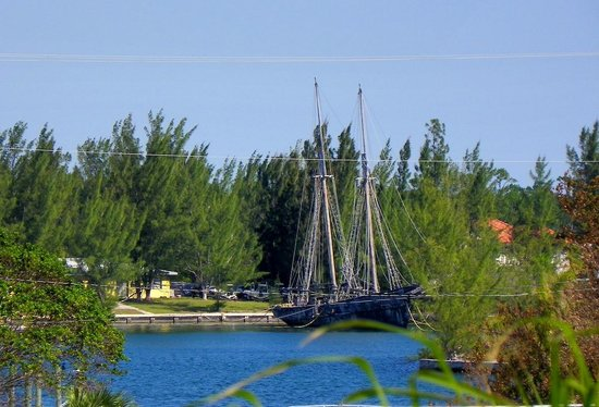 Taino Beach Resort & Clubs: An old sailing vessel on the adjacent property