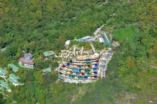 Jade Mountain Resort: Jade Mountain from the Air!!!