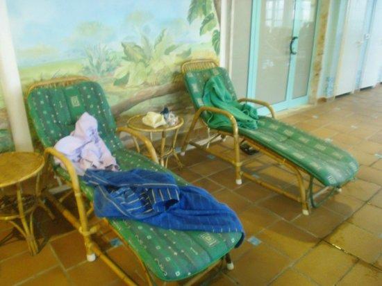 Hotel Abano Terme Cristoforo: sdraio in vimini