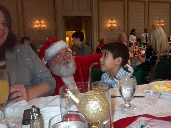 Bourbon Orleans Hotel: Zayden giving the List to Santa