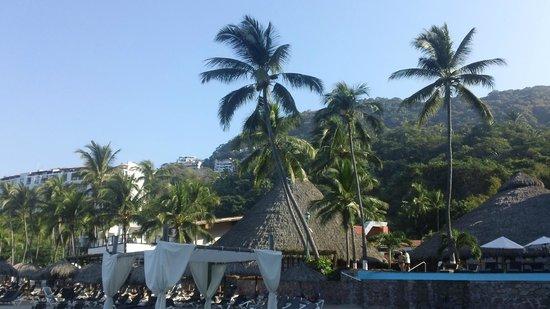Hyatt Ziva Puerto Vallarta: over top of the resort from the beach