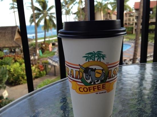 Aston at Papakea Resort: great coffee shop walking dist from hotel