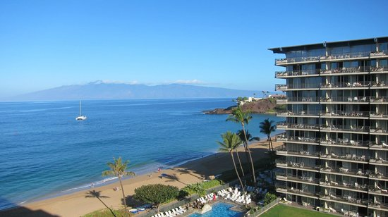 Aston at The Whaler on Kaanapali Beach: View from our room in Tower 2, the side of the Building that faces Tower 1