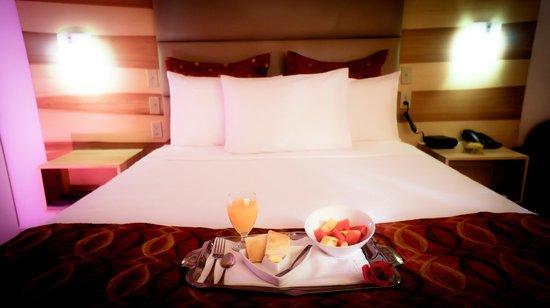 Minister Business Hotel: Cama de habitación doble.