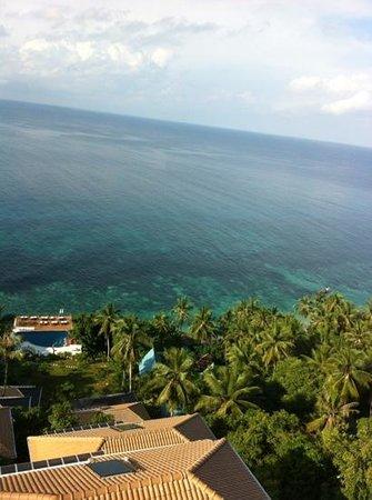 Pinnacle Koh Tao Resort: aus dem Zimmer oberhalb der Rezeption
