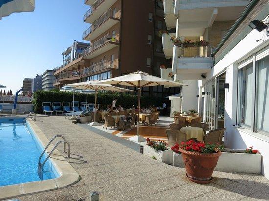 Hotel Bellevue : У бассейна