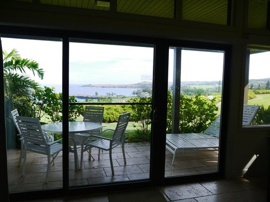 The Kapalua Villas, Maui: View from living room... note the lack of curtains and privacy