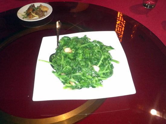 Empire Asian Bistro: Pea sprouts with garlic