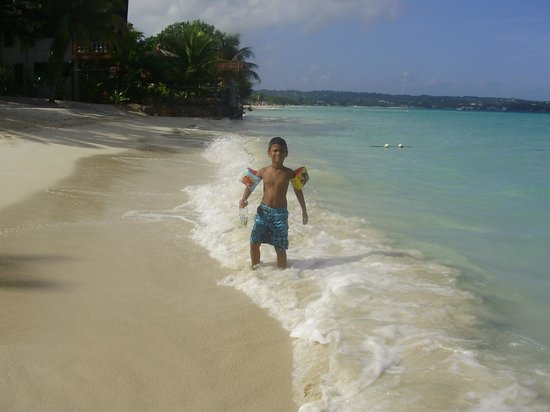 Nirvana on the Beach: Samir, my son, at the beach front.