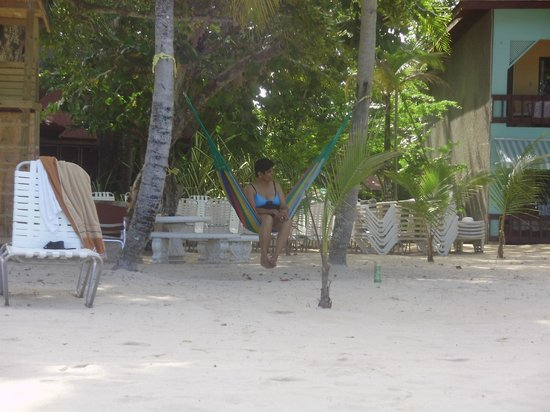 Nirvana on the Beach: My mom enjoying the hammock!