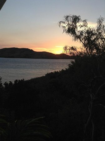 Qualia Resort: 部屋からの眺め(夕日)