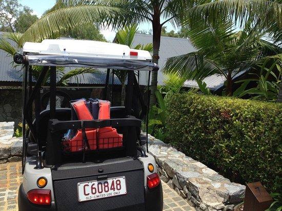 Qualia Resort: バギーとパビリオン