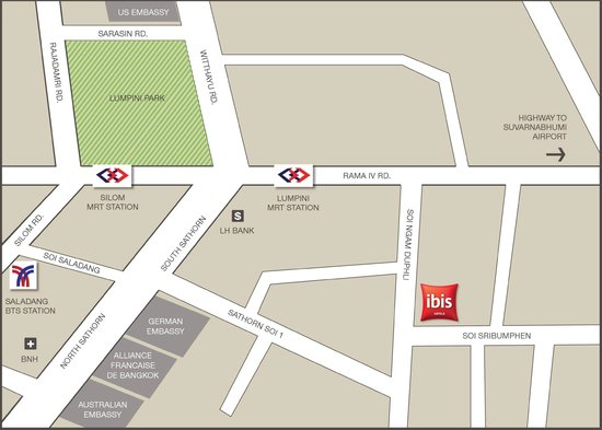 ibis Bangkok Sathorn: Map