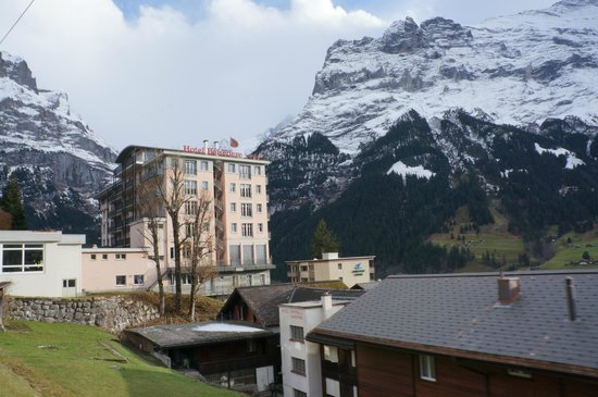 Belvedere Swiss Quality Hotel: our hotel view from closing train