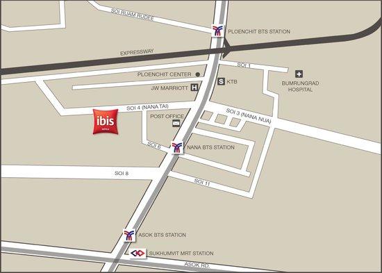 Ibis Bangkok Sukhumvit 4: Map