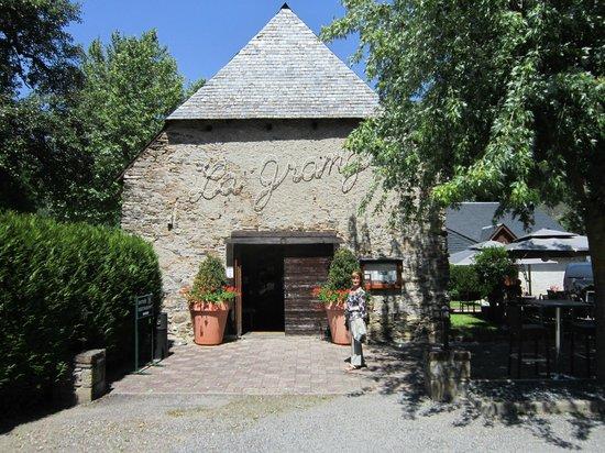 La Grange: l'entrée du restaurant