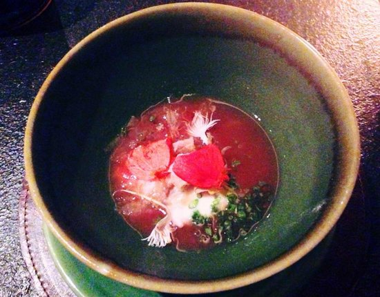 Teatro Gastroteque: A soup dish from the degustation menu