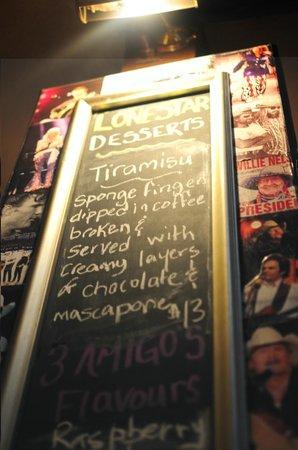 Lone Star Cafe & Bar - Queenstown : Dessert special menu