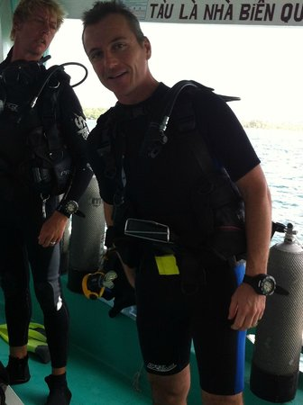 Rainbow Divers-Phu Quoc: io e Bill Thomson il mio Dive Instructor !