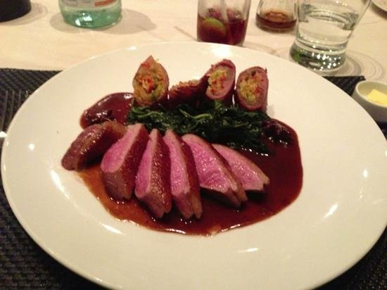Abacus Restaurant, Garden & Bar: duck breast- very good