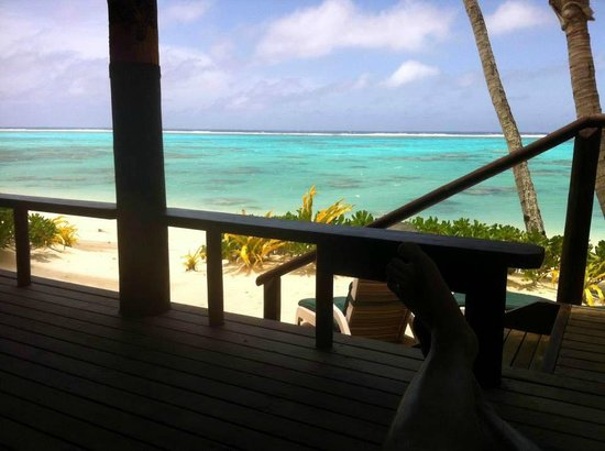 Rarotonga Beach Bungalows: View from the deck