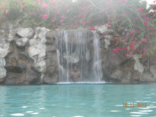 Radisson Grenada Beach Resort: One of the waterfalls at the Oasis swimming pool