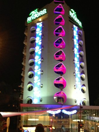 Riviera Beachotel with Xmas decorations