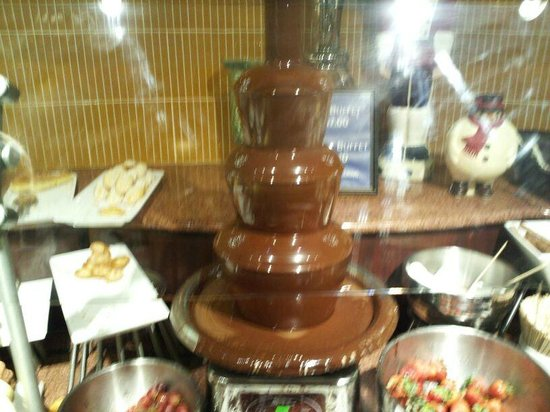 Chocolate Fountain Picture Of The View Restaurant Lounge New