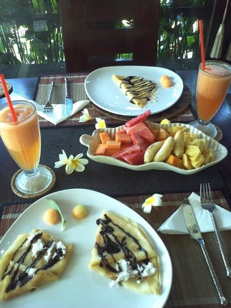 The Zala Villa Bali: delicious breakfasts