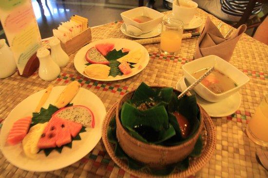 Bopha Siem Reap Boutique Hotel: desayuno khemer