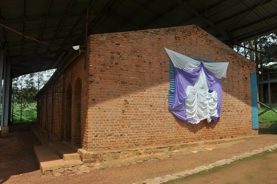 Ntarama Church--purple is a color used for funerals