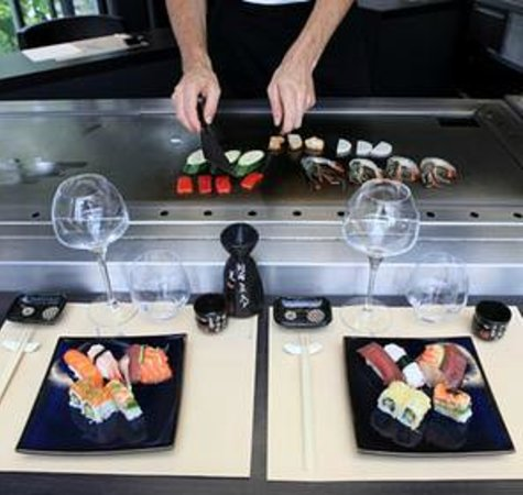 teppanyaki sur le hibachi table chauffante photo de tai shogun rennes tripadvisor. Black Bedroom Furniture Sets. Home Design Ideas