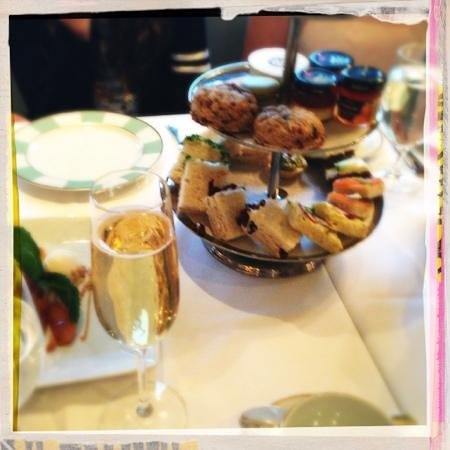 Bergdorf Goodman: Plate of petit fours and champagne is $50. yum