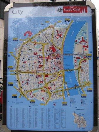 Sonata Hotel: Stadtplan von Köln