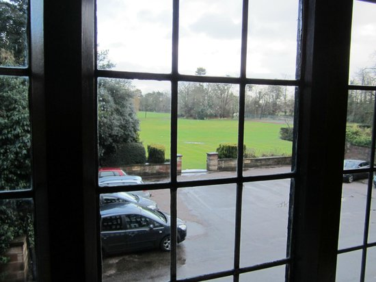 Inglewood Manor: View from the window of Room 11 overlooking the front parkland
