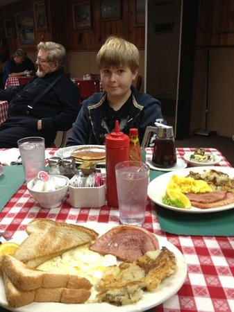 Elk Crossing Cafe: Breakfast with my Son, this is only two meals!