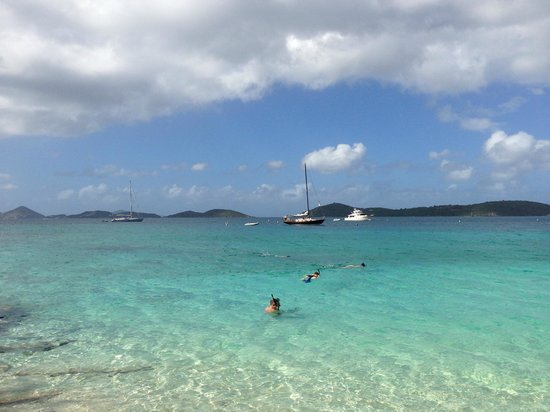Morningstar Sailing and Power Charters: Picture of the boat at Honeymoon beach