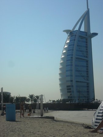 At night from the outside picture of skyview bar dubai for Burj al arab reservation